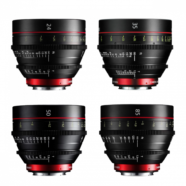 Canon CN-E Lens Kit 24, 35, 50, 85mm